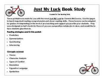 Just My Luck Book Study