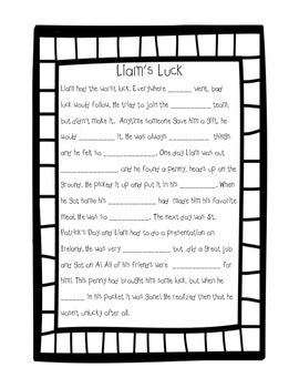 Just My Luck: Mad Libs