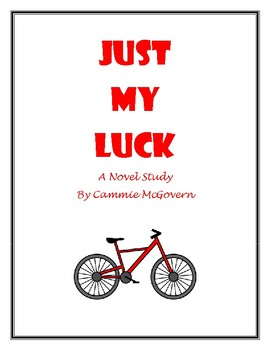 Just My Luck Novel Study