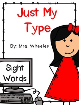 First Grade Sight Words: Typing Activity