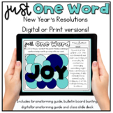 Just One Word Resolutions for the New Year