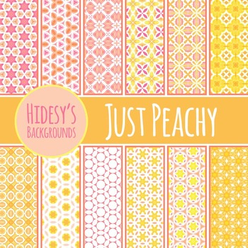 Just Peachy Watercolor Tiling Backgrounds / Digital Papers / Patterns Clip Art