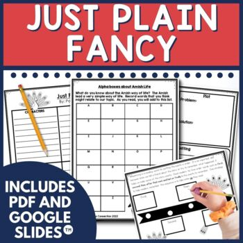 Just Plain Fancy explores the Amish way of life. In this unit, students experience alphaboxes about Amish Life, vocabulary studies, sequencing events,  context clues, cause and effect, sketch to stretch (visualizing) and fancy stories.