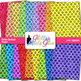 Rainbow Polka Dotted Paper {Scrapbook Backgrounds for Task Cards & Brag Tags}