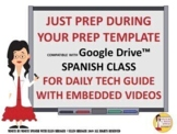 Just Prep during Your Prep Spanish Daily Lesson Template f