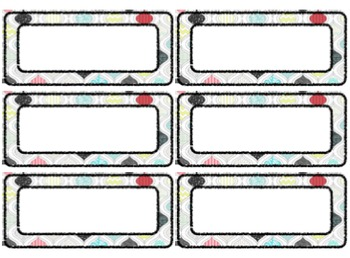 Just Press Print! Classroom Labels!
