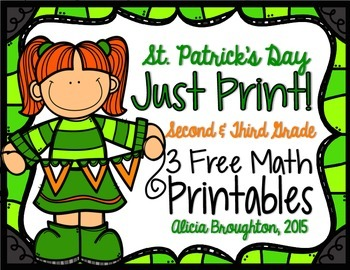 Just Print! 3 March Math Freebies - Grades 2 & 3
