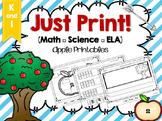 Just Print! Apple Theme ELA/Math/Science Bundle