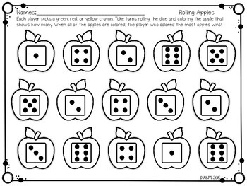 Just Print! Apple Themed Math Printables
