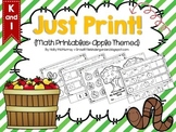 Just Print! Apple Themed Math Printables