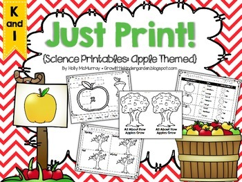 Just Print! Apple Themed Science Printables