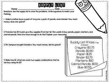 5th Grade Back to School Math Printables {Reviews 4th Grade Skills}