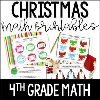 Just Print! Christmas Themed Common Core Printables {4th Grade Math}
