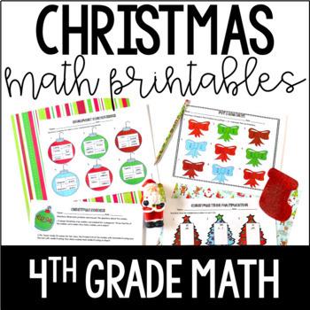 Christmas Math | 4th Grade Christmas Worksheets