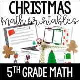 Just Print! Christmas Themed Common Core Printables {5th Grade Math}