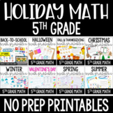 5th Grade Math Worksheets | Holiday and Seasonal Math for Fifth Grade