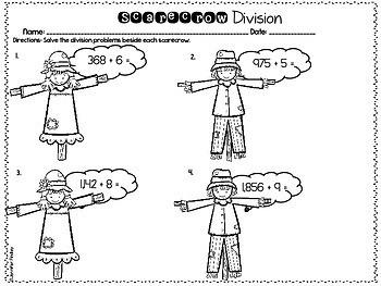 Fall and Thanksgiving Math Printables   4th Grade Thanksgiving Math