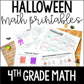 Just Print! Halloween Themed Common Core Printables {4th Grade Math}