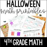 Just Print! Halloween Themed Common Core Printables {4th Grade Math}