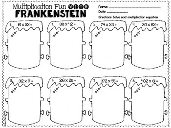 Just Print! Halloween Themed Common Core Printables {5th Grade Math}
