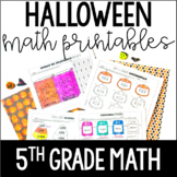 Halloween Math | 5th Grade Halloween Worksheets