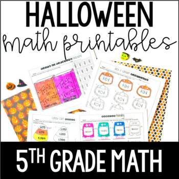 Just Print! Halloween Themed Common Core Printables {5th G