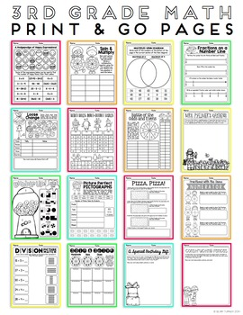 3rd Grade Math NO PREP Printables