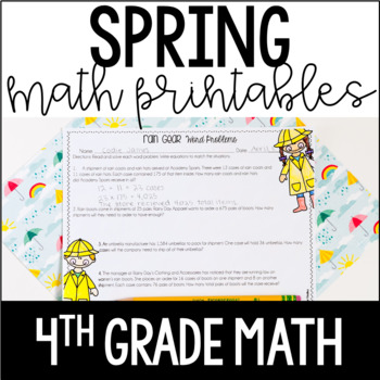 Spring Math Review - 4th Grade Math | FREE for Remote Learning