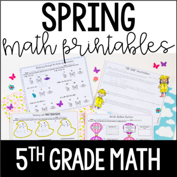 Spring Math Review - 5th Grade Math | FREE for Distance Learning