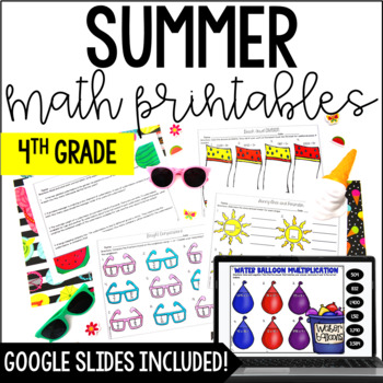 Just Print! Summer Themed Common Core Printables {4th Grade Math}