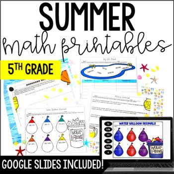 Summer Math  {5th Grade Math}