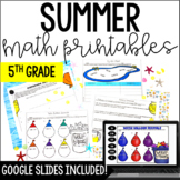 Summer Math {5th Grade Math} - with Google Slides™ Math for Distance Learning