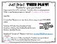 Just Print, Then Play!  Verb Identification Game