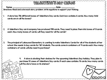 Just Print! Valentine's Day Themed Common Core Printables {4th Grade Math}