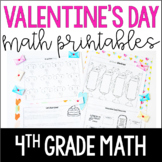 Valentine's Day Math Worksheets | 4th Grade Valentine's Day Math