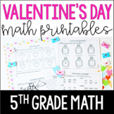 Valentine's Day Math Worksheets | 5th Grade Valentine's Day Math