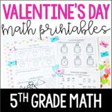 Valentine's Day Math Worksheets | 5th Grade Valentine's Day Math