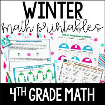 Winter Math Common Core Printables {4th Grade Math}