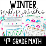 Winter Math Common Core Printables {4th Grade Math}