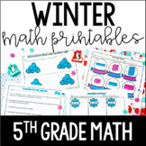 Winter Math Common Core Printables {5th Grade Math}