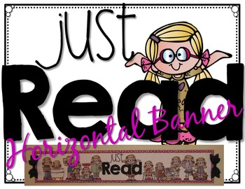Just READ Banner Pink Edition (Horizontal) with Bookmarks