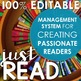 Reading Management System + Book Club Guide (100% EDITABLE)