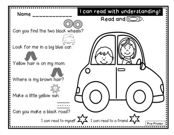Just Rebus - Pre-Primer Sight Word Edition