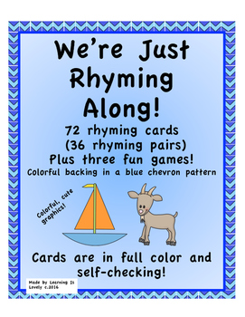 Just Rhyming Along: 36 pairs of rhyming cards with three games