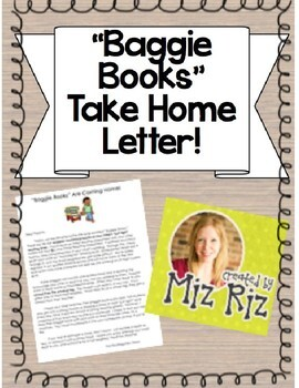 """""""Just Right Book Bags"""" Take Home Letter!"""