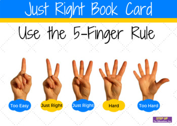 Just Right Book Cards