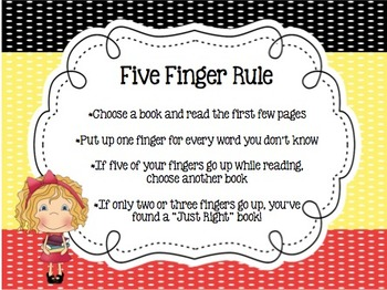 Just Right Book - How to Select a Just RIGHT book - Black/Red/Yellow Theme