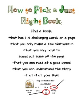 Just Right Book Poster