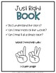 Just Right Book Posters & Bookmarks