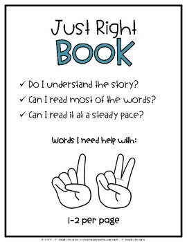 Just Right Books {Posters & Bookmarks}